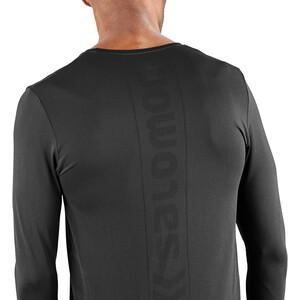 Salomon Sense Langarm T-Shirt Herren black black
