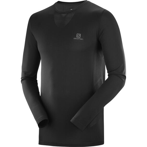 Salomon Sense Langarm T-Shirt Herren black