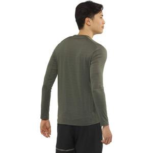 Salomon XA Langarm T-Shirt Herren olive night/heather olive night/heather