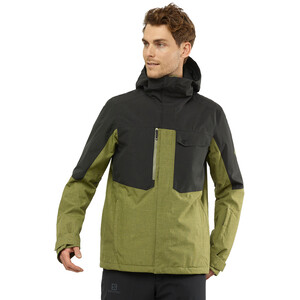 Salomon Powderstash Jacke Herren martini olive/black/wht martini olive/black/wht