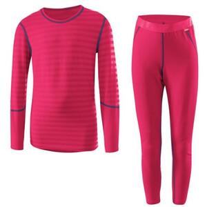 Löffler Ringel Transtex Warm Unterwäsche Set Kinder pink pink