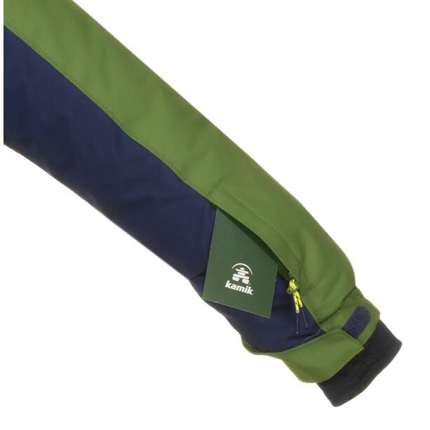 Kamik Hudson Jacke Kinder blau/grün