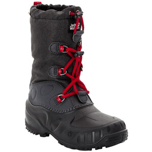 Jack Wolfskin Iceland Texapore High Winter Shoes Kids black/red black/red