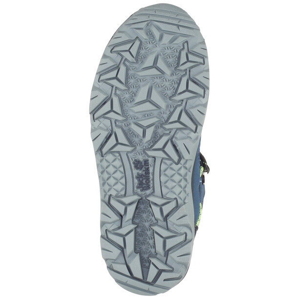 Jack Wolfskin Vojo Texapore Mid-Cut Schuhe Kinder dark blue/lime