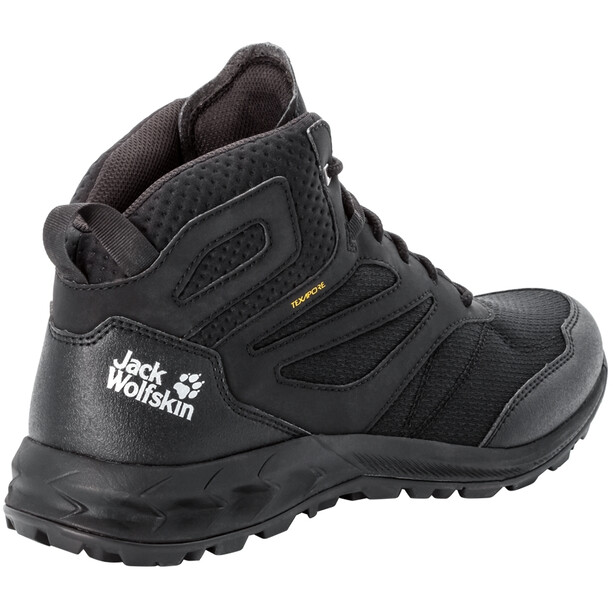 Jack Wolfskin Woodland Texapore Chaussures Mi-Hautes Homme, noir