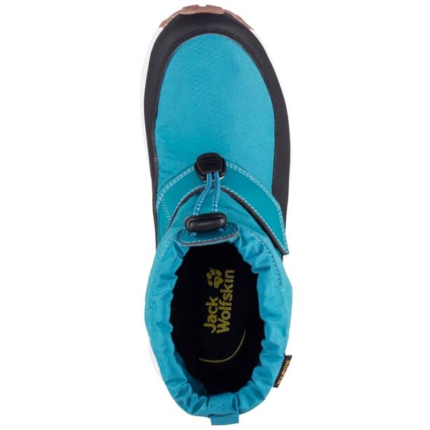 Jack Wolfskin Woodland Texapore WT VC Mid-Cut Schuhe Kinder türkis/schwarz