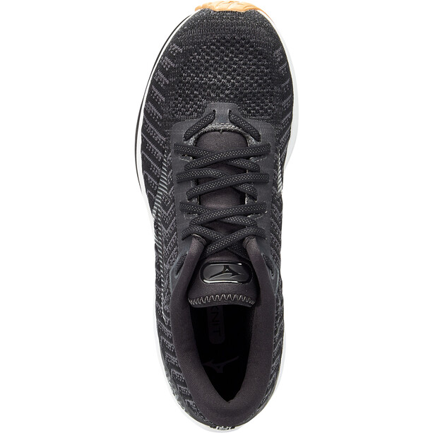 Mizuno Wave Rider 24 Waveknit Schuhe Herren black/dark shadow/biscuit