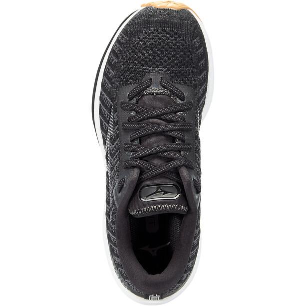 Mizuno Wave Rider 24 Waveknit Schuhe Damen black/dark shadow/biscuit