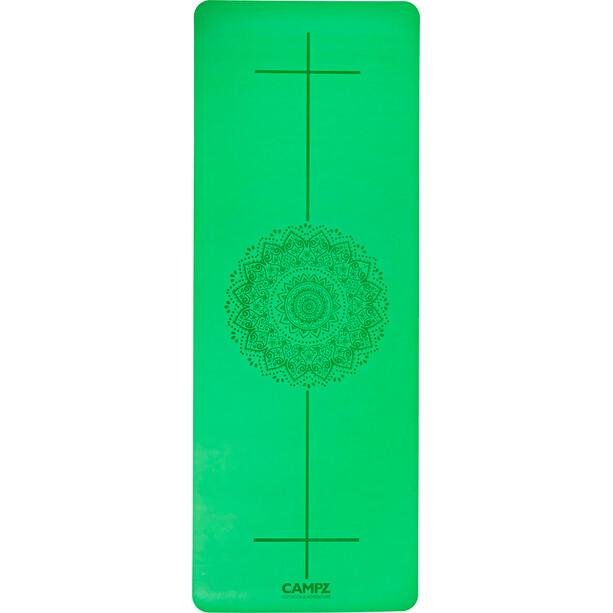 CAMPZ PU Position Line Yoga Matte L green