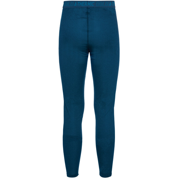Odlo Active Thermic Lange Unterhose Herren estate blue melange