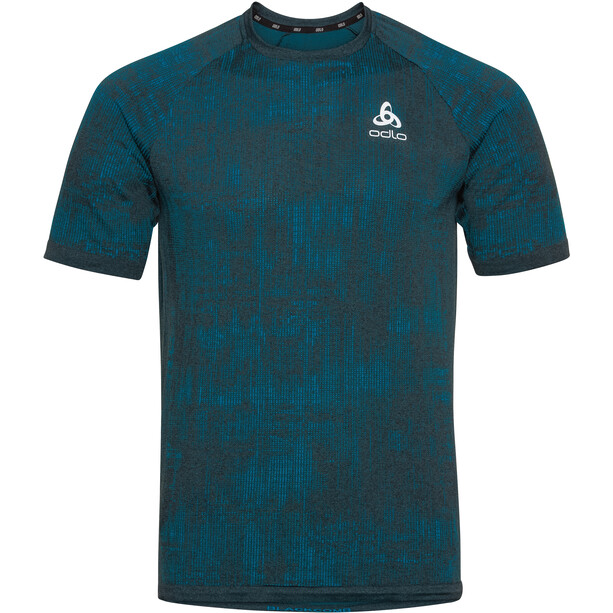 Odlo Blackcomb Pro Rundhals Kurzarm T-Shirt Herren tumultuous sea/submerged