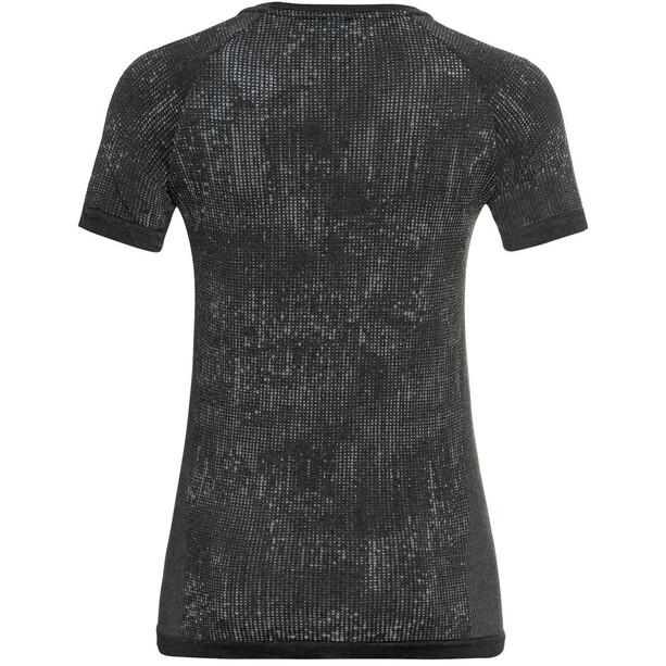 Odlo Blackcomb Pro Rundhals Kurzarm T-Shirt Damen black melange