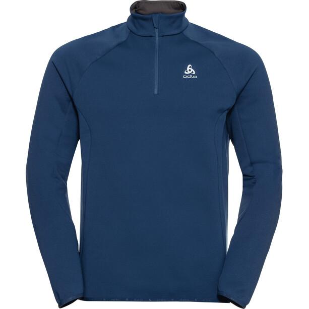 Odlo Carve Ceramiwarm Half Zip Midlayer Herren estate blue