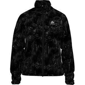 Odlo Zeroweight Print Jacke Damen black/graphic20 black/graphic20