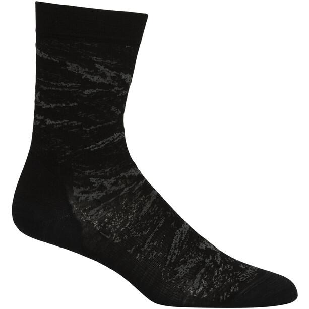 Icebreaker Lifestyle Fine Gauge JBG Crew-Cut Socken Damen black