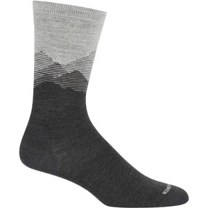 Icebreaker Lifestyle Fine Gauge Mountain Sky Crew-Cut Socken Herren blizzard heather blizzard heather