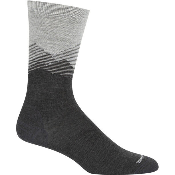Icebreaker Lifestyle Fine Gauge Mountain Sky Crew-Cut Socken Herren blizzard heather