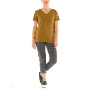 Icebreaker Ravyn V-Ausschnitt Kurzarm T-Shirt Damen curry curry