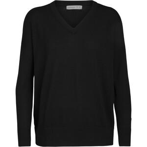 Icebreaker Shearer V-Ausschnitt Sweater Damen black black