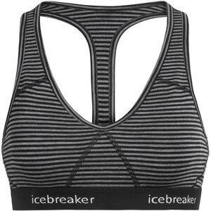Icebreaker Sprite Racerback Urheilurintaliivit Naiset, gritstone heather gritstone heather