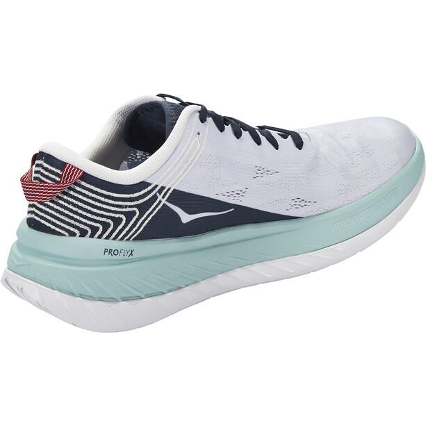 Hoka One One Carbon X Chaussures De Course Homme, blanc/bleu