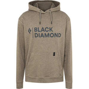 Black Diamond Stacked Logo Hoodie Herren beige beige