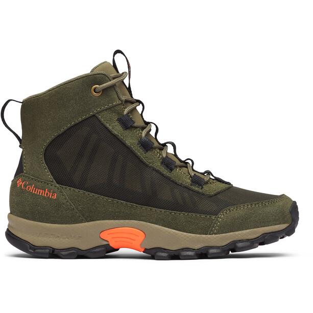 Columbia Flow Borough Mid-Cut Schuhe Jugend oliv/schwarz