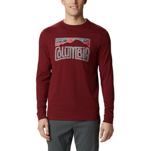 Columbia Outer Bounds Langarm Graphic T-Shirt Herren red jasper lined skyview red jasper lined skyview