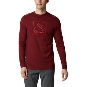 Columbia Cades Cove Langarm Graphic T-Shirt Herren red jasper jagged peak red jasper jagged peak