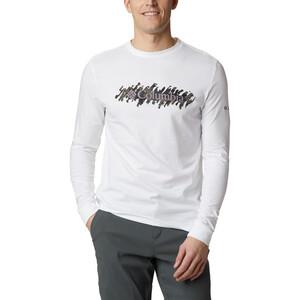 Columbia Columbia Lodge Camiseta Manga Larga Hombre, blanco blanco