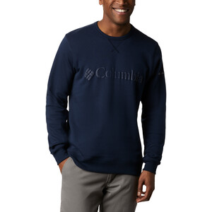 Columbia Logo Fleece Rundhals Sweater Herren collegiate navy puff logo collegiate navy puff logo