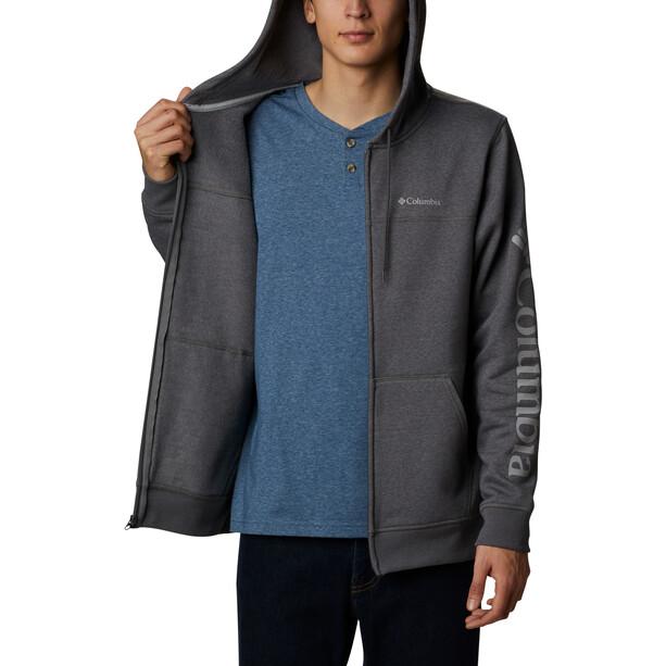 Columbia Logo Fleece Full Zip Kapuzenjacke Herren city grey heather/columbia grey