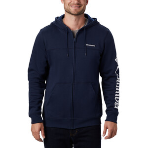 Columbia Logo Fleece Full Zip Kapuzenjacke Herren collegiate navy/white collegiate navy/white