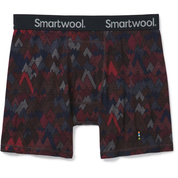 Smartwool Merino 150 Print Boxershorts Herren tibetan red mountains for days