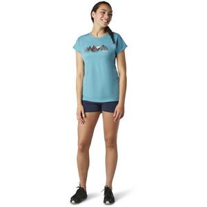 Smartwool Merino Sport 150 Castles In The Stratosphere T-Shirt Damen dark wave blue heather dark wave blue heather