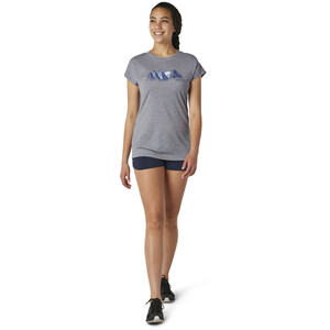 Smartwool Merino Sport 150 Castles In The Stratosphere T-Shirt Damen grey heather grey heather