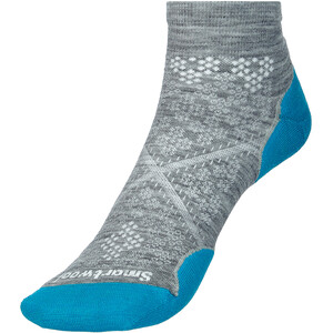 Smartwool Run Targeted Cushion Chaussettes À Coupe Basse Femme, gris/turquoise gris/turquoise