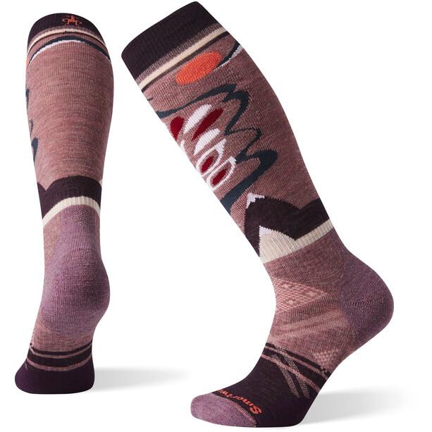 Smartwool PhD Ski Medium Pattern Socken Damen nostalgia rose