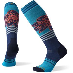 Smartwool PhD Snow Medium Traced Dahlia Pattern Socken Damen bordeaux bordeaux