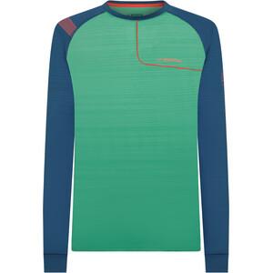 La Sportiva Tour Langarm Oberteil Herren grün/blau grün/blau