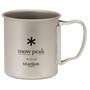Snow Peak Titanium Single-Wall Cup 450ml grey
