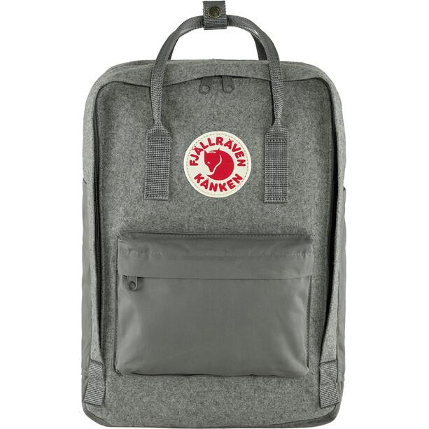 "Fjällräven Kånken Re-Wool Laptop Rucksack 15"" granite grey"