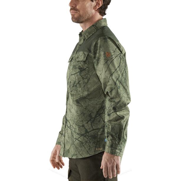 Fjällräven Värmland G-1000 Shirt Herren green camo-deep forest