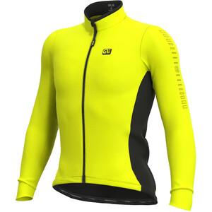 Alé Cycling Solid Fondo Maillot À Manches Longues Homme, jaune jaune