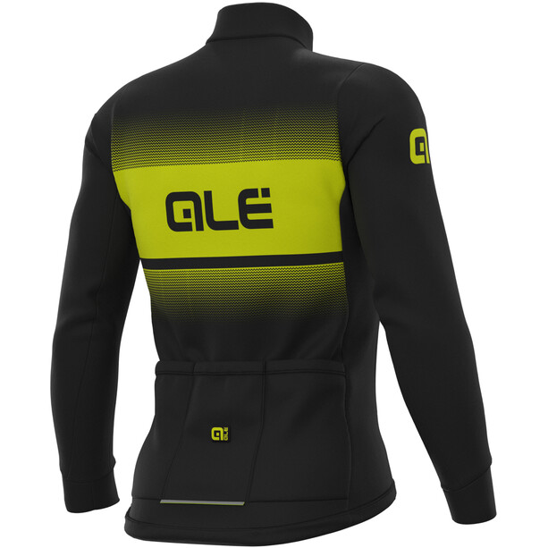 Alé Cycling Solid Blend Winter Langarm Trikot Herren black/fluo yellow