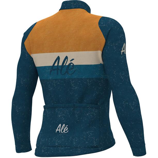 Alé Cycling Classic Storica Langarm Trikot Herren petrol/orange