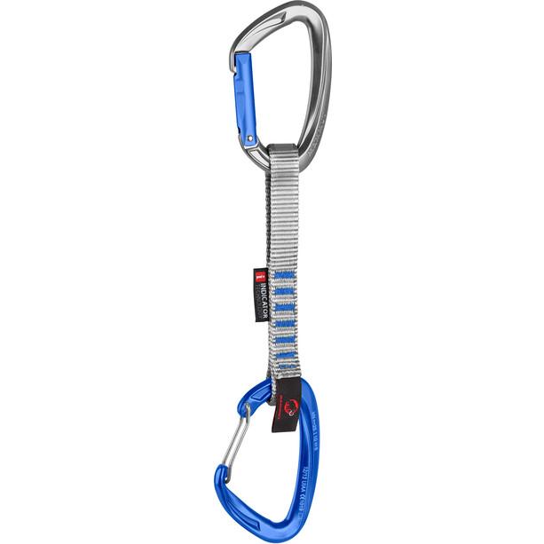 Mammut Crag Indicator Wire Expressschlinge 15cm straight gate/wire gate/silver/ultramarine