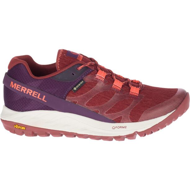 Merrell Antora GTX Kengät Naiset, punainen/violetti