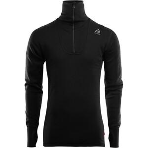 Aclima DoubleWool Shirt Polo Avec Fermeture Éclair Homme, noir noir
