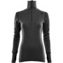 Aclima DoubleWool Zip Poloshirt Damen marengo/jet black